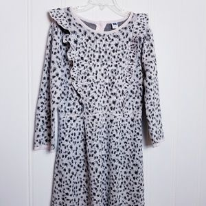 Janie and Jack Leopard Button Back Sweater Dress